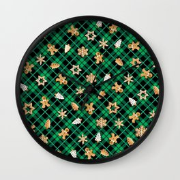 Gingerbread Green Wall Clock