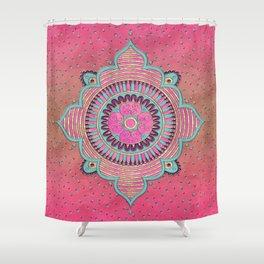 India Pink Mandala Pattern Shower Curtain