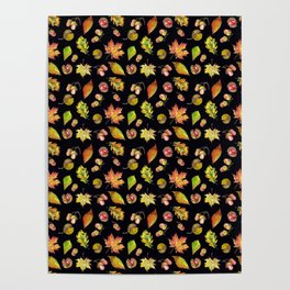 Autumn Forest pattern Poster