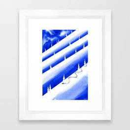 Thinking About Snow Framed Art Print