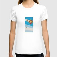 hot air balloons T-shirts featuring Three Hot Air Balloons by Shelley Chandelier