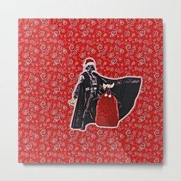 Santa Vader Metal Print