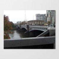 melbourne Canvas Prints featuring Melbourne by Jeremy Buckley illustration