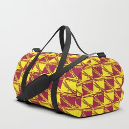 Checkered Dragonflies Duffle Bag