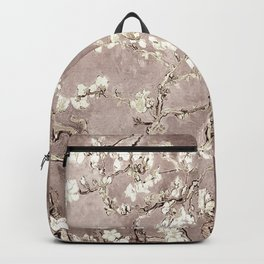 Van Gogh Almond Blossoms Beige Taupe Backpack