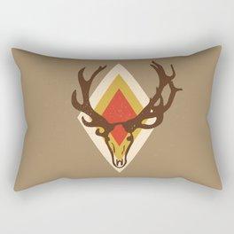 Stag Head Rectangular Pillow