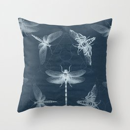 X-RAY Insect Magic Throw Pillow