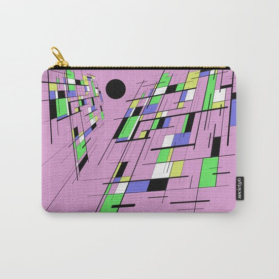Bad perspective - Abstract, vector, geometric, 3D style artwork Carry-All Pouch