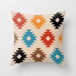 Colorful Southwestern Pattern 539 Throw Pillow