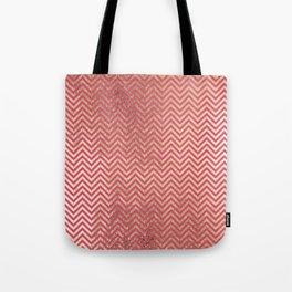 Magenta faux gold elegant chevron geometrical pattern Tote Bag