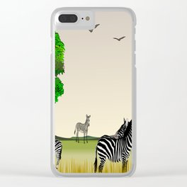 Animal Collage 3 Clear iPhone Case