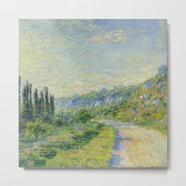 "Claude Monet ""The Road to Vétheuil"" (1880) Metal Print"