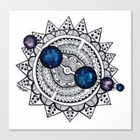 interstellar Canvas Prints featuring Interstellar by HaleySayersArt