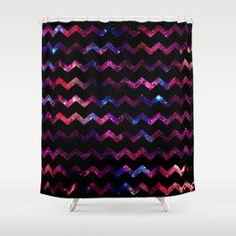 Galaxy Chevron Shower Curtain