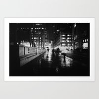 new york city Art Prints featuring New York City Noir by Vivienne Gucwa