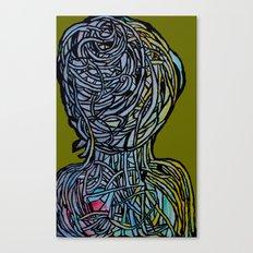 Windower Olive Canvas Print