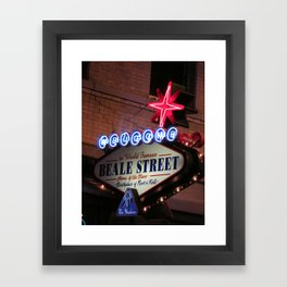 Beale Street, Memphis Framed Art Print