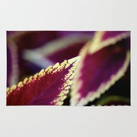 burgundy Area & Throw Rugs featuring Burgundy Leaf by Valerie Creager
