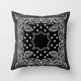 Bandana Black & White Throw Pillow