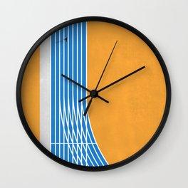 Finish Line | Aerial Illustration Wall Clock