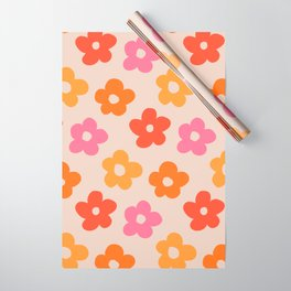 Retro 60s 70s Flowers Pattern #pattern #vintage Wrapping Paper