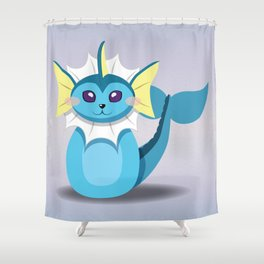 Evolution Bobbles - Vaporeon Shower Curtain