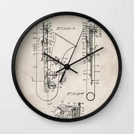 Selmer Saxophone Patent - Saxophone Art - Antique Wall Clock