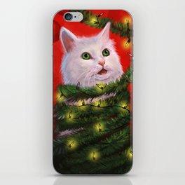 Tinsel Cat iPhone Skin