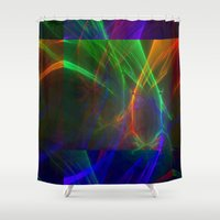 lightning Shower Curtains featuring lightning by donphil