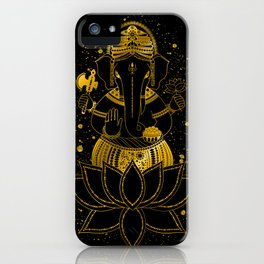 Golden Ganesha iPhone Case