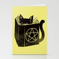 witchcraft Stationery Cards featuring Witchcraft Cat by Tobe Fonseca