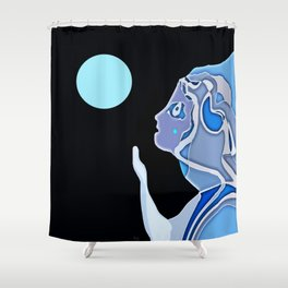 Moon Gazer Shower Curtain