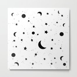 The Milky Way (Black and White) Metal Print