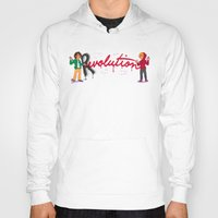enjolras Hoodies featuring Revolution With A Captial R by juanjoltaire