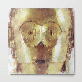 C3PO Retro Droid Robot Starwars Metal Print