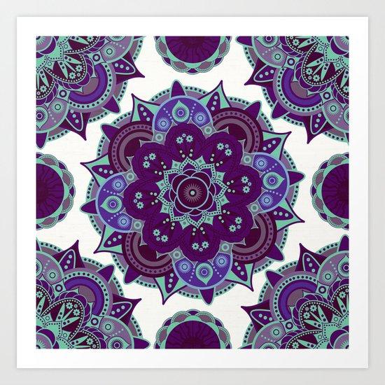 Third Eye Chakra Mandala Art Print