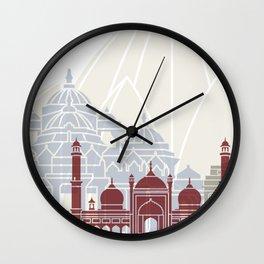 Delhi skyline poster Wall Clock