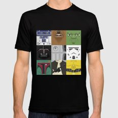 Starwars combo Black Mens Fitted Tee SMALL