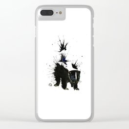 Skunk - Ink Blot Clear iPhone Case