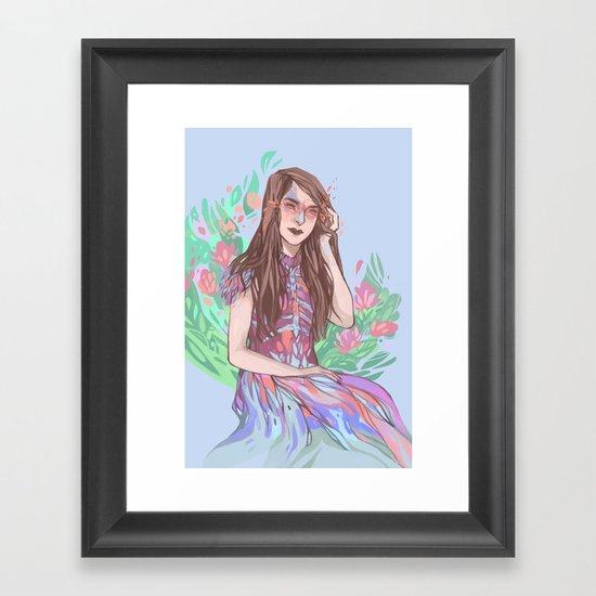 Floral Bird Framed Art Print