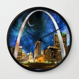 Spacey St. Louis Skyline Wall Clock