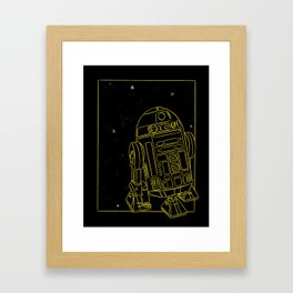 """R2-D2"" by Maggie Stephenson Framed Art Print"