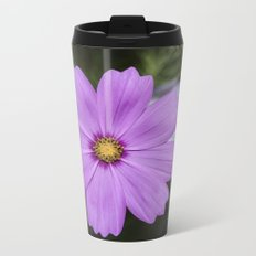 Purple Cosmos closeup Metal Travel Mug