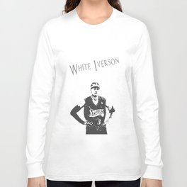 White Iverson Long Sleeve T-shirt