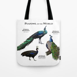 Peafowl of the World Tote Bag