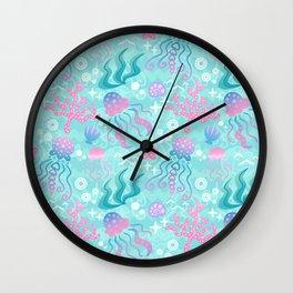 Jellyfish Sea Wall Clock