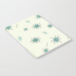 Mid Century Stars Retro Vintage Pattern Notebook