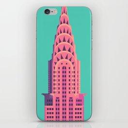 Chrysler Building New York Art Deco - Green iPhone Skin
