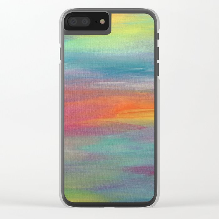 Opal Landscape Clear iPhone Case