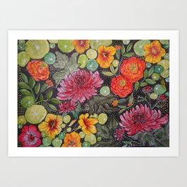 Linda's Garden Art Print